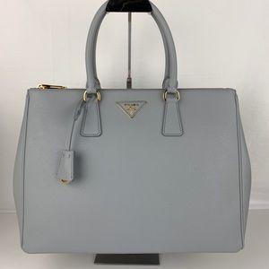 7a688a26665a ... New Prada Italian Galleria Large Double Zip Tote ...